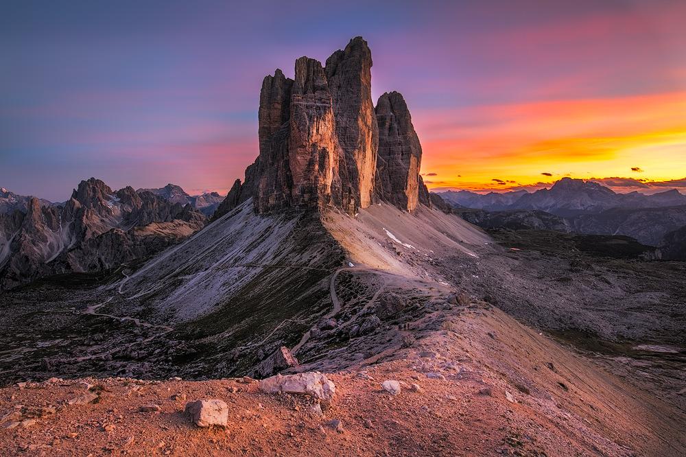 Drei Zinnen (Tre Cime di Lavaredo), Südtirol, Italien