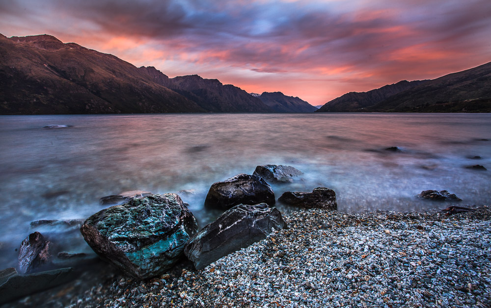 Lake Wakatipu Sunrise, Neuseeland