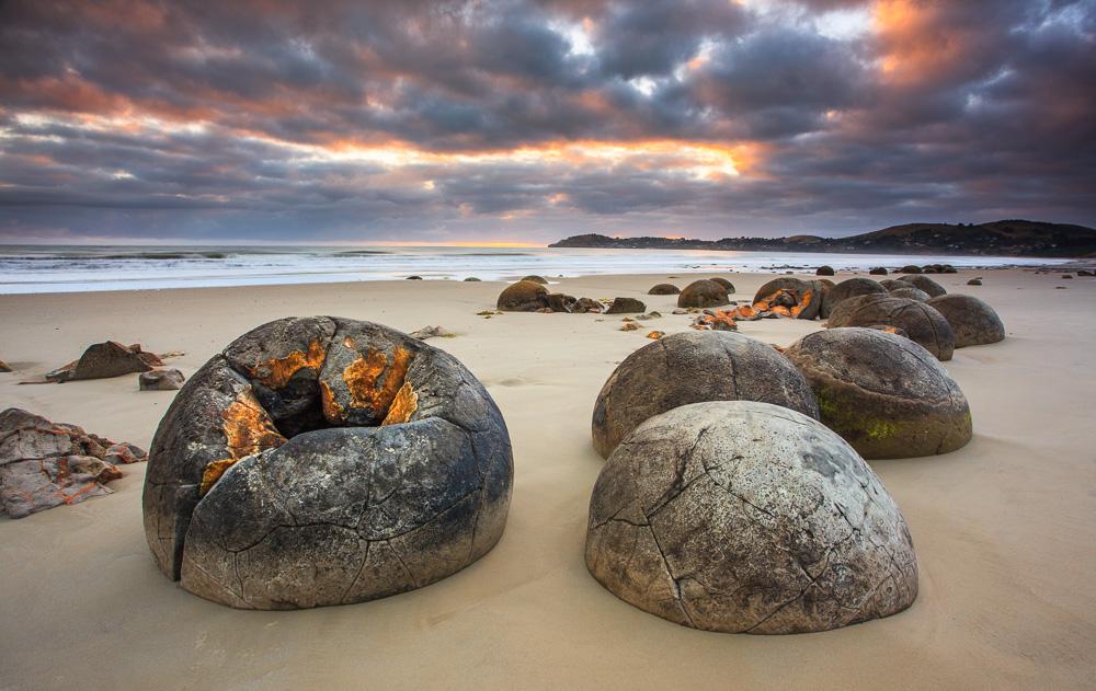 Golden Boulders, Moeraki Bolders, Neuseeland