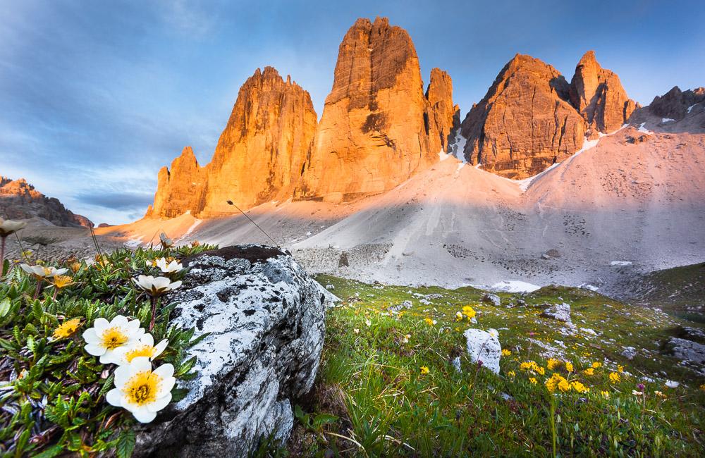 Im Schatten der Zinnen, Südtirol, Dolomiten, Italien