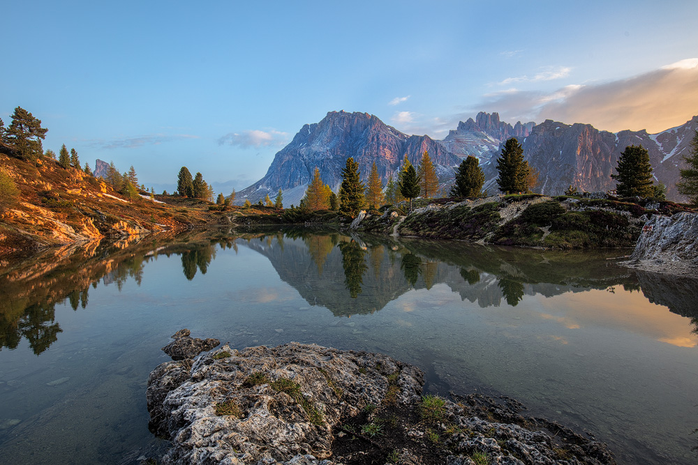 Lago Limedes, Passo Falzarego, Belluno, Dolomiten, Italien