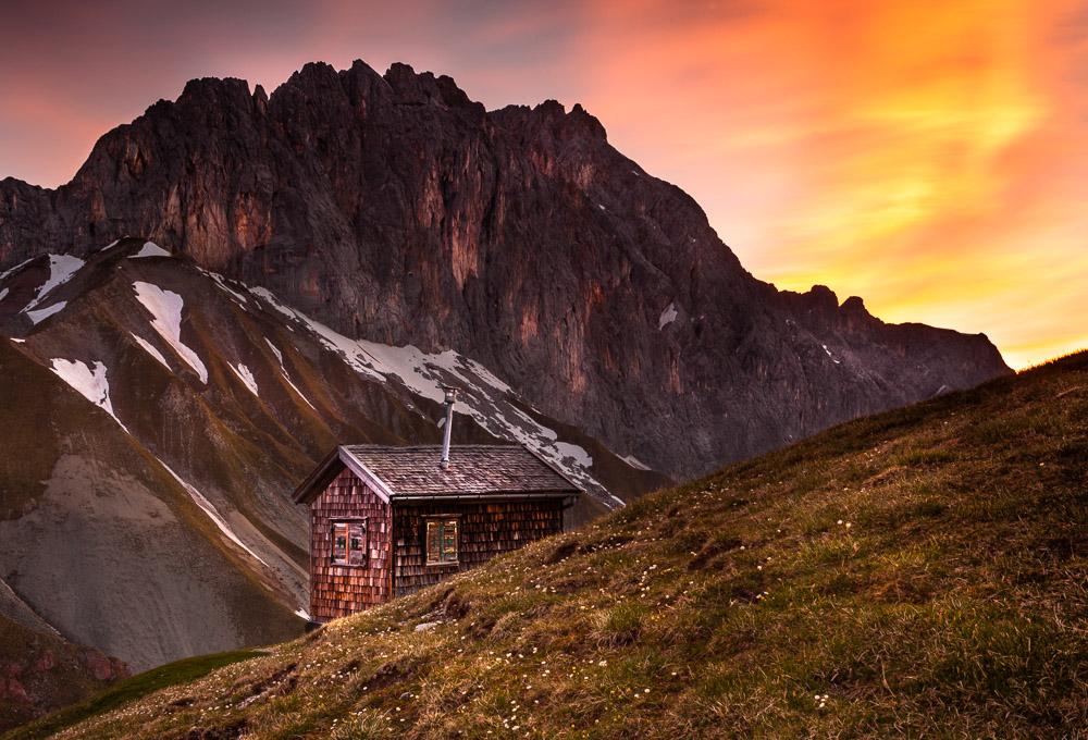 Erinnerungshütte, Wettersteingebirge, Tirol, Österreich