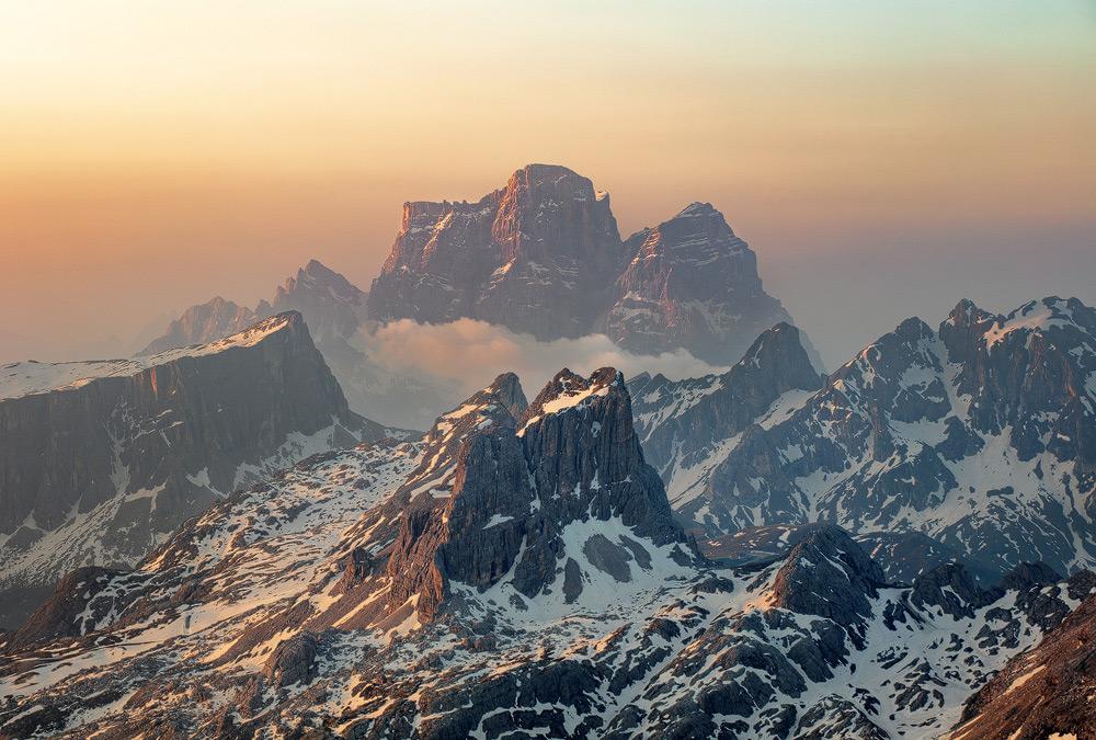 Monte Pelmo and Monte Averau, Dolomiten, Venezien, Italien