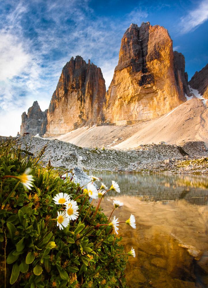 North Faces, Drei Zinnen, Südtirol, Dolomiten, Italien