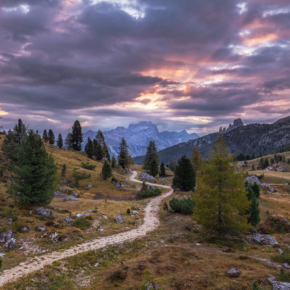 Am Passo Falzarego, Dolomiten, Belluno, Italien