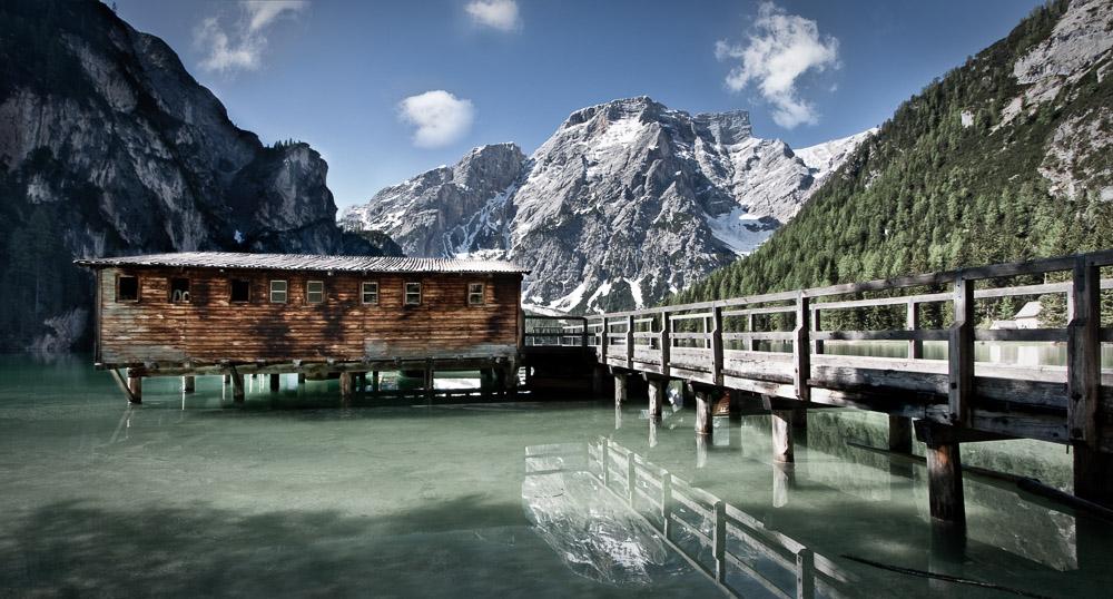 Wild Lake, Pragser Wildsee, Dolomiten, Südtirol, Italien