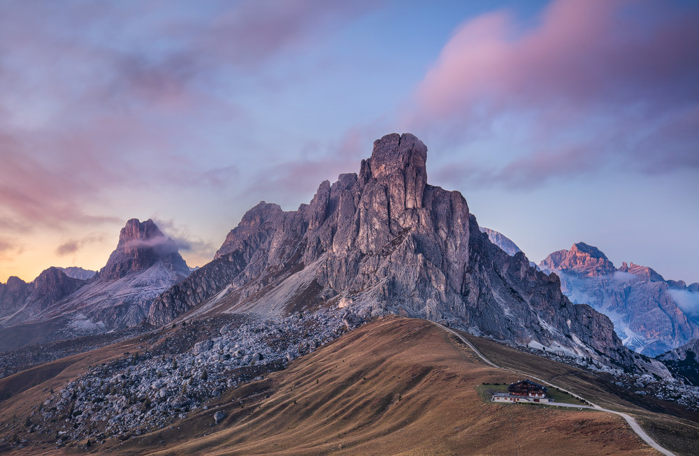 Am Passo Giau, Dolomiten, Belluno, Italien