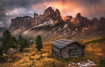 Grödnerjoch, Südtirol, Italien