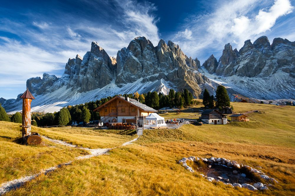 Geisler Alm, Südtirol, Dolomiten, Italien