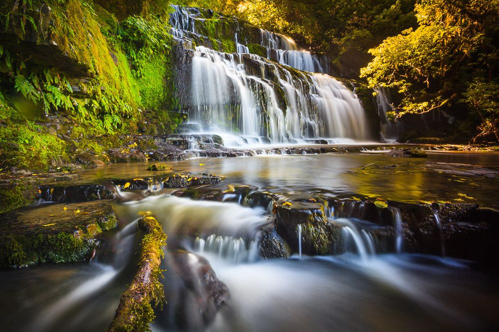 Flowing Beauty, Purakaunui Falls, Catlins Coast, Neuseeland