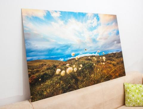 """Das Bild """"Glimmer of Hope"""" auf Alu Dibond im Format 120 x 80 cm kurz vor der Auslieferung zum Kunden."""