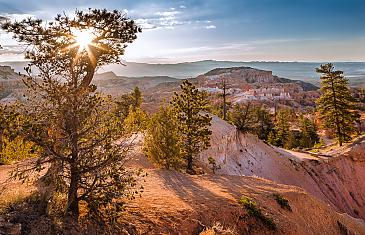 Morning awakens, Bryce Canyon Nationalpark, Utah, USA