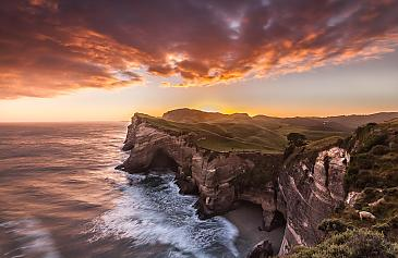 Northend sunrise, Wharariki, Neuseeland