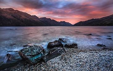 Lake Wakatipu Sunrise, Neuseeland