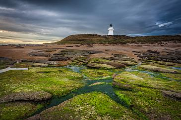 Green Cross, Waipapa Point Lighthouse, Catlins Coast, Neuseeland