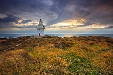 Leuchtturm am Waipapa Point, Catlins Coast, Neuseeland