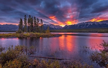 Lower Kananaskis Lake, Alberta, Kanada