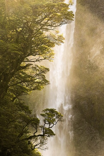 Devil's Punchbowl Waterfall, Arthur's Pass, Neuseeland