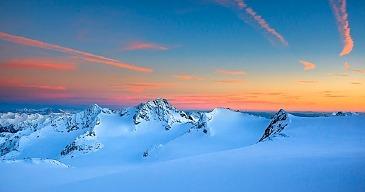 Glacier Sunset View, Stubaier Alpen, Tirol, Österreich