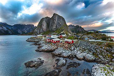 Hamnøy Robruer, Reine, Lofoten, Norwegen