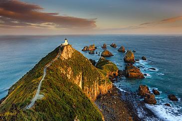 Nugget Point Lighthouse, Catlins Coast, Neuseeland