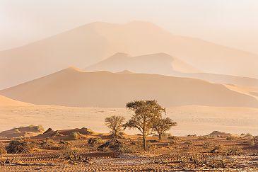 Sandsturm in Sossusvlei, Namibia